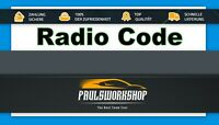 Radio Code Mercedes-Benz Alpine MF2311 MF2321 MF23.. - KEY CODE DF700  Famar