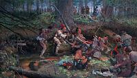 """Ambush 1725 at Lovewell Pond"" - John Buxton Limited Edition Giclee Canvas"