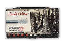 Conte a Paris Carres Set of 12 Assorted Sketching Crayons
