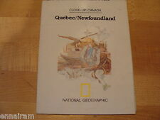 National Geographic Society Map 1980 Canada Quebec, Newfoundland