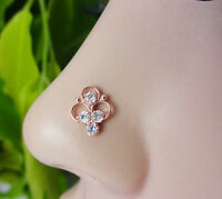 Crock Screw Nose Stud Tiny Nose Stud Indian Nose Ring Mother's day Gift Nose