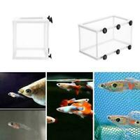 Fish Tank Aquarium Net Case Breeder Incubator Breeding Fry Box Isolation Fr Q4H0