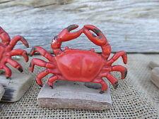 Metal Red CRAB Knob - Nautical Beach Ocean Dresser Drawer Knobs Pull Pulls