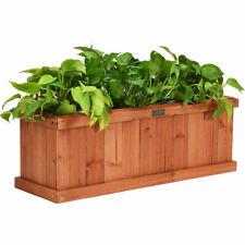 Wooden Raised Planter Box Garden Yard Window Bed Elevated Plant Outdoor Patio