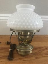Vintage 1977 Quoizel  Hobnail Lamp Wall Sconce Antique Brass