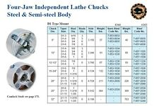 """8"""" Bison 4 Jaw Lathe Chuck Direct Mount D1-3 +Hard Jaws"""