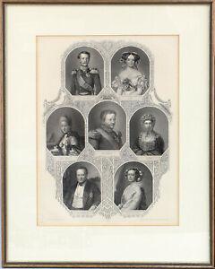 99863119 Stahlstich Portraits Sachsen-Weimar 2.H.19.Jh. Großherzog Carl August