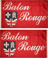 3x5 Baton Rouge Double Sided 2ply Nylon Poly Flag 3'x5' Banner