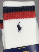 Polo Ralph Lauren 3 Pair Classic Cotton Sport Crew Socks 6-12 New W/tags A42