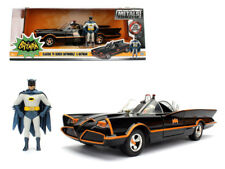 1966 Classic TV Series Batmobile with Diecast Batman and Plastic Robin in the ca