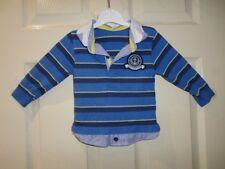 St Bernard Boys Rugby Long Sleeve Collar Polo Size 9-12 Months