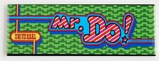 Mr. Do Marquee FRIDGE MAGNET (1.5 x 4.5 inches) arcade video game header mister