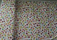 Dots Fabric Olivette Rainbow Olive Dot Toss on White Loralie Designs BTY or BTHY