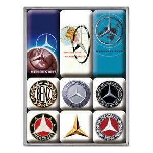 Mercedes Benz Logos set of 9 mini fridge magnets    (na)