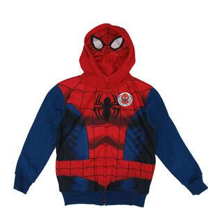 SPIDER-MAN Logo Hooded Long Sleeved HOODIE