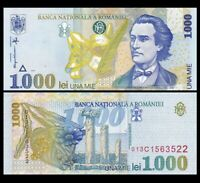 ROMANIA 1000 1,000 Lei, 1998, P-106, UNC World Currency