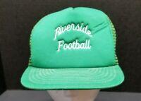 Vintage Riverside Football Green Snapback Trucker Hat