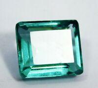 Certified 32.50 Ct Natural Precious Emerald Cut Blue Aquamarine Loose Gemstone