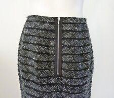 Lisa HO Skirt City Lights Silk Black & White Size 8