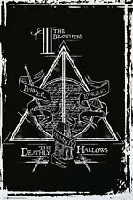 HARRY POTTER DEATHLY HALLOWS GRAPHIC POSTER rolled size 24x36