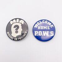 Vietnam War Pins VTG Set Of Two MIA And POW
