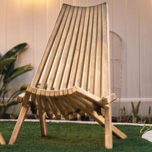 Clevermade Outdoor Acacia Wood Tamarack Single Folding Chair**FREE DELIVERY**