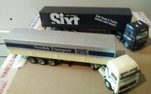 Herpa, Wiking Etc.. Iveco, Volvo Articulated Lorries.. X2 Ho Scale