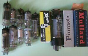 Vintage Valve Tubes: Job Lot Of 13 Untested Tubes Zenith/Mullard/Pinnacle/Mazda