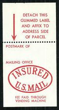 Scott Q15 - Domestic Parcel Post Insurance Stamp Booklet - Mint, Never Hinged