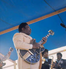 Guitarist Bb King Plays A Gibson Es355 1970s OLD MUSIC PHOTO 2