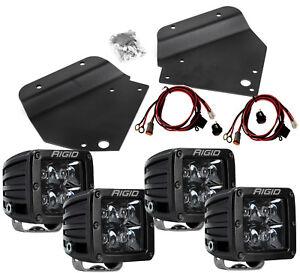 RIGID LED Fog Light Kit w/ 4 Midnight Black PRO Lights for 10-14 Ford Raptor SVT