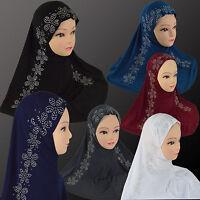 Neu Hijab Islamisches 1& 2 Teiliges Kopftuch Al-Amira Untertuch Bone Abaya Schal