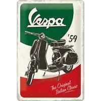 Vespa Roller Italy Classic Nostalgie Blechschild 30 cm NEU  shield