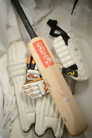 Woodworm Youth Cricket Set Gloves, Shin Pads and Bat