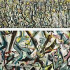 """60W""""x24H"""" MURAL, 1943 by JACKSON POLLOCK - DRIP SPLAT PAINTING CHOICES of CANVAS"""