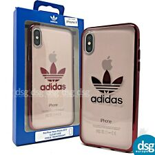 Adidas Case for Apple iPhone X XS - Classic Clear Transparent Cover - Red