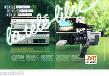 PUBLICITE ADVERTISING 016  1982  JVC   hi-fi vidéo  le HR 220S caméra GX 7 ( 2p)