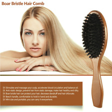 Natural Boar Bristle Hair Extension Brush Comb Oval Anti-static Paddle H5C0