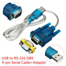 USB To RS-232 DB9 Pin Serial Cable Lead 80CM Hembra Adaptador Convertidor Sin CD