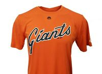 San Francisco Giants Orange MLB Majestic Performance Wear T-Shirt, Men's, nwt