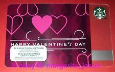 "STARBUCKS CANADA GIFT CARD ""HAPPY VALENTINE'S DAY"" 2014 NEW NO VALUE 6094"