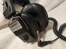 """Garrett Master Stereo/Mono Deluxe Headphones Ace 150 200 250 300 400 - 1/4"""" Jack"""