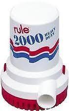 NEW RULE BILGE PUMP 12V 2000 GPH UL APR RUL 106UL
