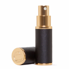 Black Saffiano Leather Perfume/Aftershave Travel Atomizer, 8ml, with Gift Box *G