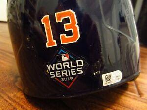 Abraham Toro 2019 Houston Astros Game Used Helmet MLB Auth World Series Logo
