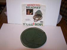Trail Boss Mosquito Headnet green cotton elastic neckband adjustable headband