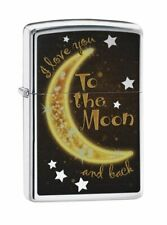 Zippo Golden Moon, I Love You To the Moon and Back Lighter #29059