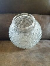 1930s Light Fixture Cut Glass Globes..2 avail..need cleaning..price is for each