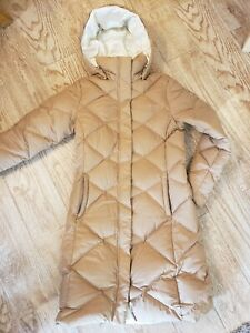The North Face Metropolis 550 Down Jacket Womens Sz Small Hood Long Winter Coat
