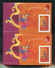 HONG KONG  SCOTT# 889a YEAR OF THE DRAGON  PACK OF100 SOUVENIR SHEETS MINT NH